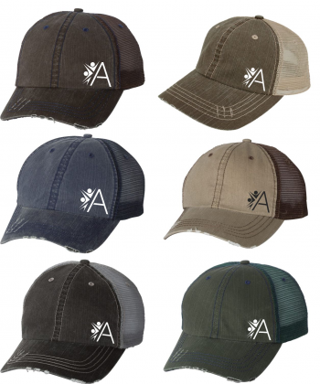 b2bb1a59b7d28 Mega Cap - Herringbone Unstructured Trucker Cap - 6990