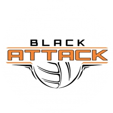 Black Attack Volleyball logo